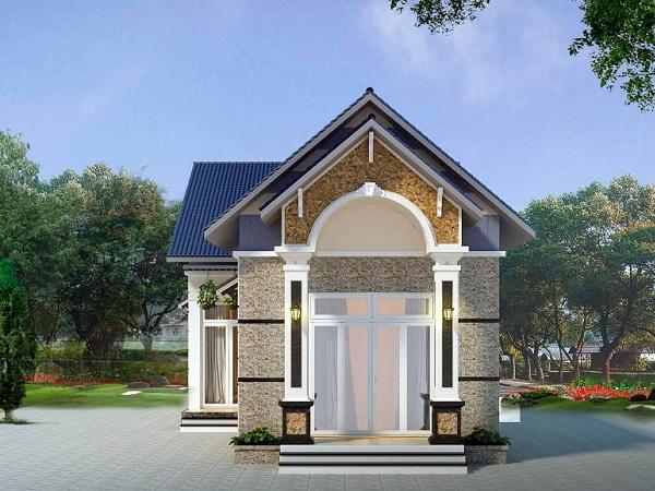thiết kế kiến trúc biệt thự 1 tầng