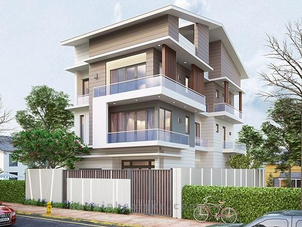thiết kế kiến trúc biệt thự 3 tầng