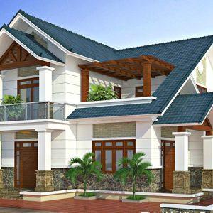 thiết kế kiến trúc biệt thự mái thái