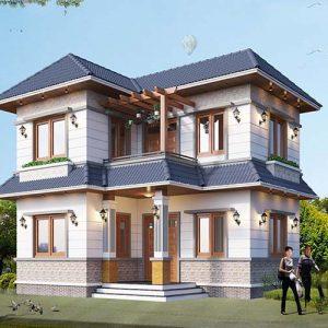 thiết kế kiến trúc biệt thự mini