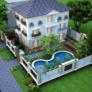 thiết kế kiến trúc biệt thự nhà vườn