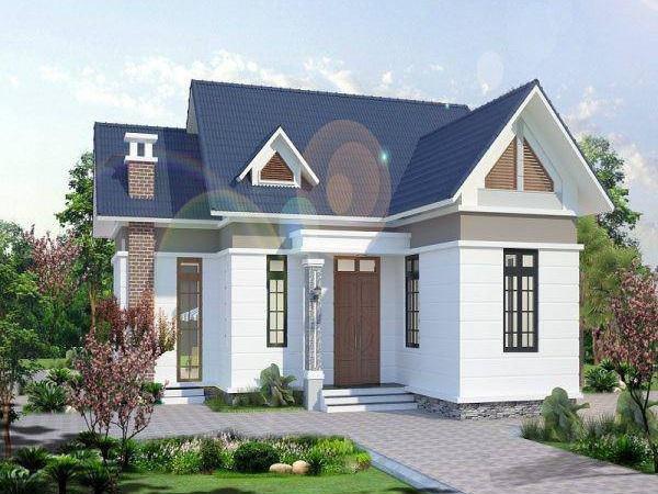 thiết kế kiến trúc nhà cấp 4 nông thôn