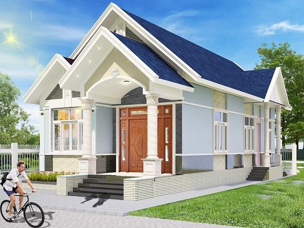 thiết kế kiến trúc nhà cấp 4 mái thái