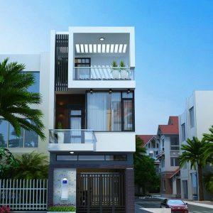 thiết kế kiến trúc nhà phố 3 tầng