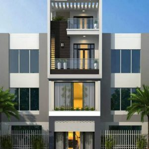 thiết kế kiến trúc nhà phố 4 tầng