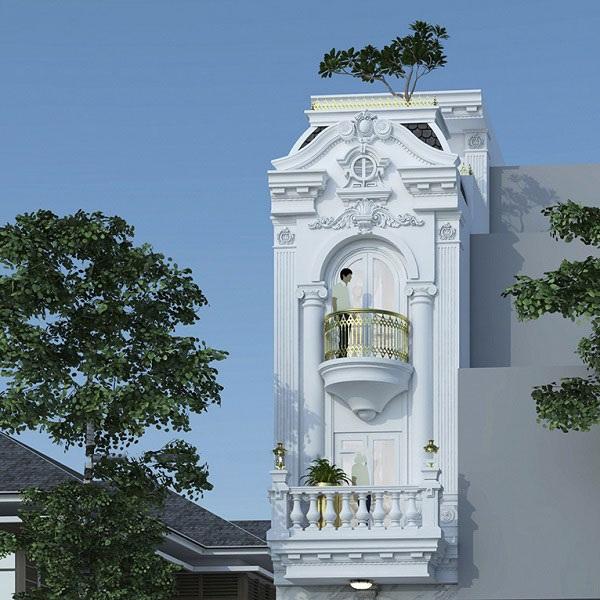 thiết kế kiến trúc nhà phố cổ điển