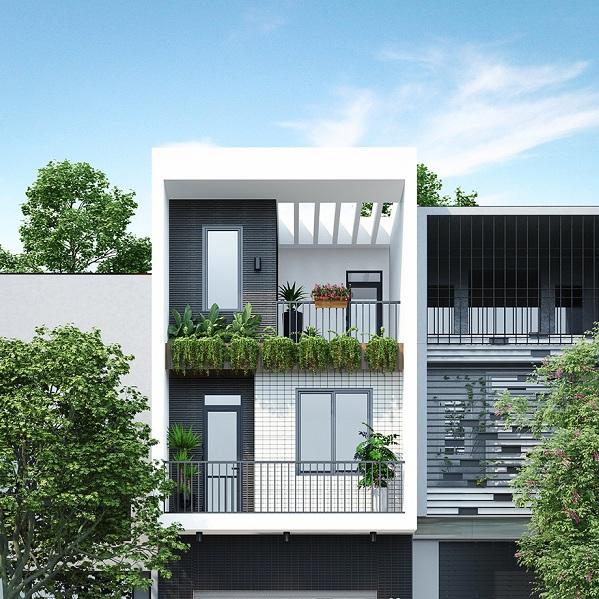 thiết kế kiến trúc nhà phố hiện đại