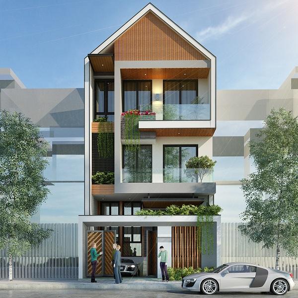thiết kết kiến trúc nhà phố hiện đại
