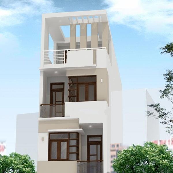 thiết kế kiến trúc nhà phố lệch tầng