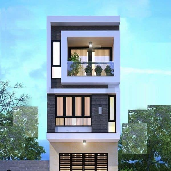Thiết kế nhà phố hiện đại lệch tầng