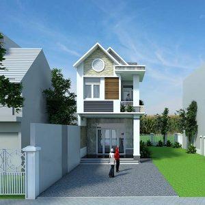 thiết kế kiến trúc nhà phố mái thái