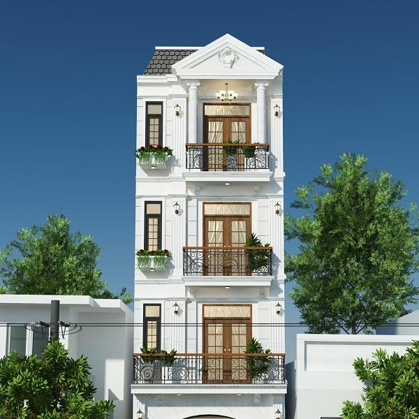 Thiết kế kiến trúc nhà phố tân cổ điển