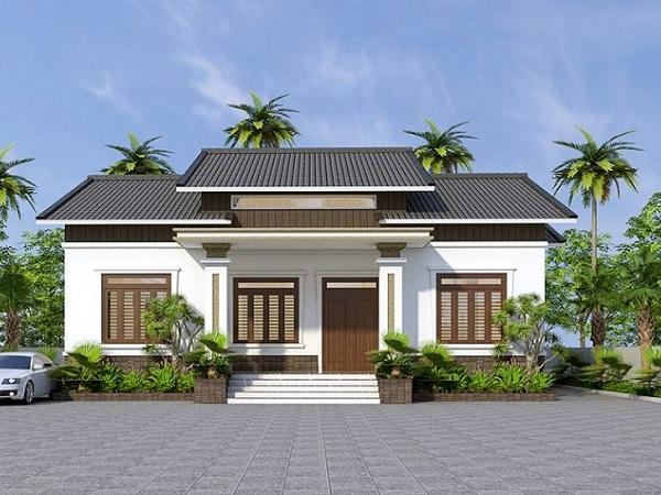 thiết kế kiến trúc nhà vườn cấp 4